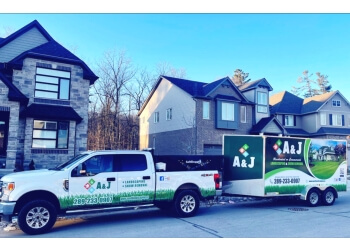 Mississauga snow removal A and J landscaping and Snow Removal