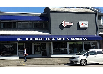 New Westminster locksmith Accurate Lock Safe & Alarm Co.