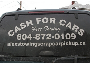Vancouver towing service Alex's Towing & Scrap Car Removal