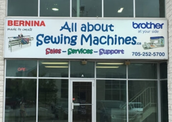 Barrie sewing machine store All About Sewing Machines