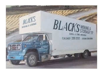 Airdrie moving company BLACKS MOVING & STORAGE LTD.
