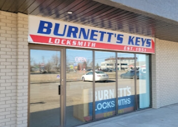 Saskatoon locksmith Burnett's Key Shop Ltd.