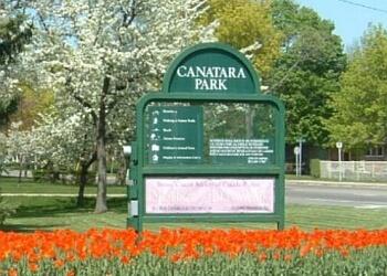 Sarnia hiking trail Canatara Park Trails