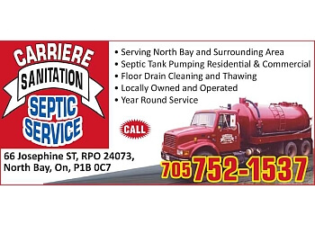 North Bay septic tank service Carriere Sanitation