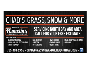 North Bay lawn care service Chad's grass, snow and more