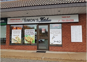 Orillia thai restaurant Chef Simon's Kitchen
