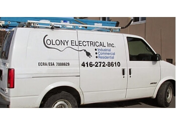 Brampton electrician Colony Electrical, Inc.