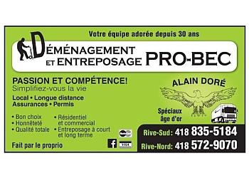 Levis moving company  Déménagement & entreposage Pro-Bec