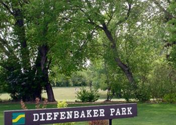 Saskatoon public park Diefenbaker Park