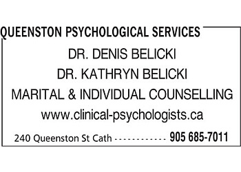 St Catharines psychologist Dr. Denis Belicki, C. Psych.
