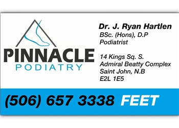 Saint John podiatrist Dr. J. Ryan Hartlen, DPM