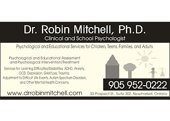 Newmarket psychologist Dr. Robin Mitchell, Ph.D, C.Psych.