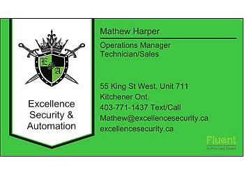 Kitchener security system Excellence Security & Automation