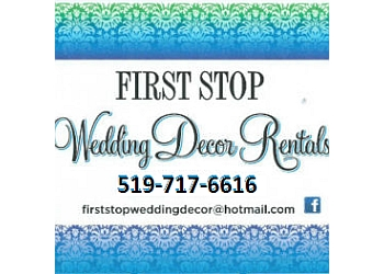 Brantford wedding planner First Stop Wedding Decor Rentals