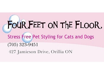 Orillia pet grooming Four Feet On The Floor