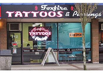 New Westminster tattoo shop Foxfire Tattoos & Piercings