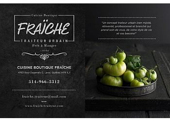 Laval caterer Fraiche Traiteur Urbain