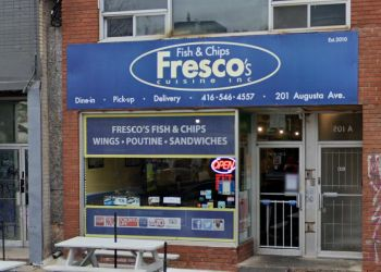 Toronto fish and chip Fresco's Fish and Chips