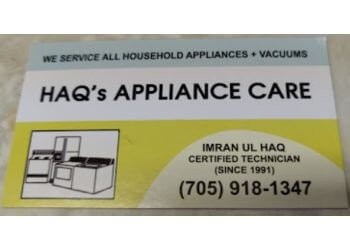 Sudbury appliance repair service Haq's Appliance Care
