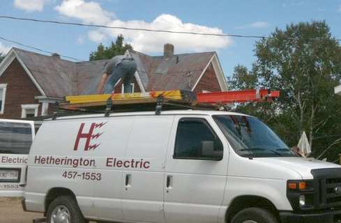 Fredericton electrician Hetherington Electric Ltd.
