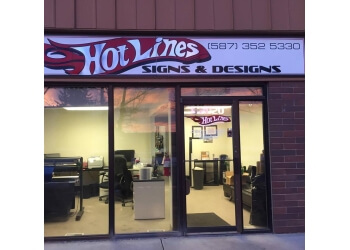 Airdrie sign company HotLines Signs & Designs