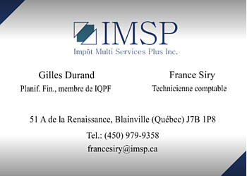 Blainville tax service Impôt Multi Services Plus Inc