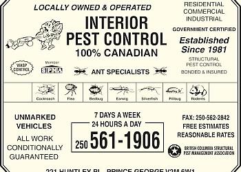 Prince George pest control Interior Pest Control