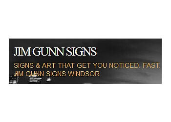 Windsor sign company Jim Gunn Signs