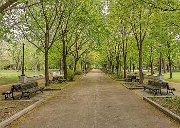 Montreal public park La Fontaine Park