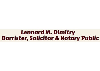 Hamilton notary public Lennard M. Dimitry  Barrister, Solicitor & Notary Public