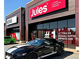 Brossard sign company Lettrage Jules Communications