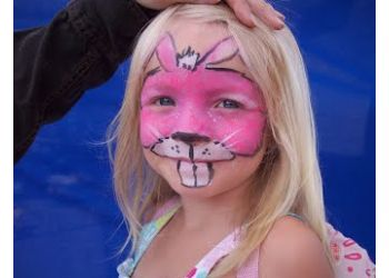 Red Deer face painting Little City Designs