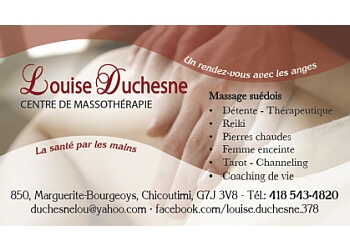 Saguenay massage therapy Louise Duchesne Centre de Massothérapie