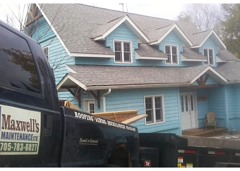 Huntsville roofing contractor MAXWELL'S HOME MAINTENANCE LTD.