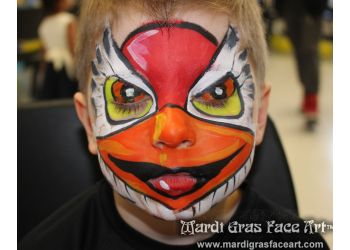 Mardi Gras Face Art