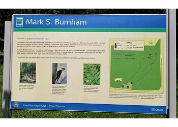 Peterborough hiking trail Mark S. Burnham Provincial Park Trail