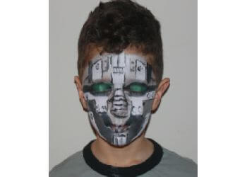 St Albert face painting Maze Bouncers Edmonton