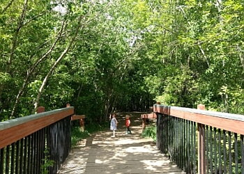 Edmonton hiking trail Mill Creek Ravine Park Trail