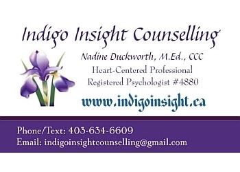 Lethbridge psychologist Nadine Duckworth, M.Ed, Registered Psychologist