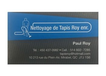 Mirabel carpet cleaning Nettoyage De Tapis Roy Enr.