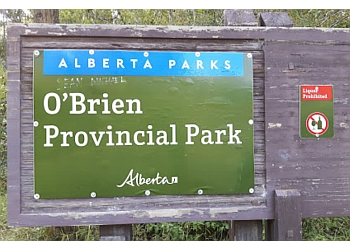 Grande Prairie hiking trail O'Brien Provincial Park Trail