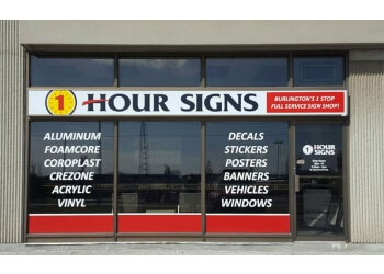 Burlington sign company One Hour Signs