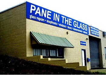 Burlington window cleaner Pane in the Glass