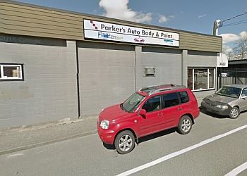 Victoria auto body shop Parker's Autobody and Paint Ltd.