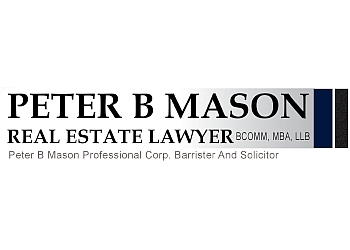Edmonton real estate lawyer PETER B MASON REAL ESTATE LAWYERS