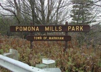 Markham public park Pomona Mills Park