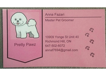 Richmond Hill pet grooming Pretty Pawz