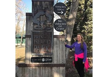 Calgary hiking trail Prince's Island Park Trail