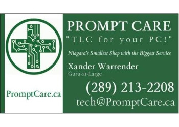 Prompt Care St Catharines Computer Repair