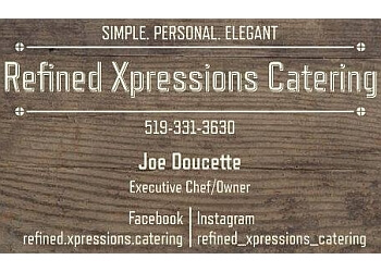 Sarnia caterer Refined Xpressions Catering